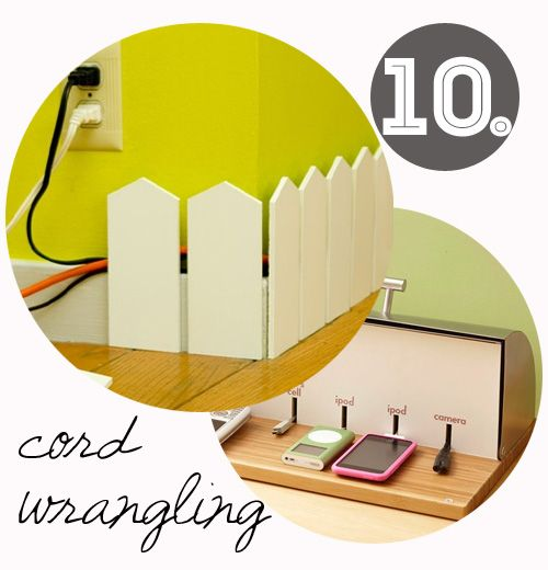 Cord wrangling in a bread bin. How cool Is that?