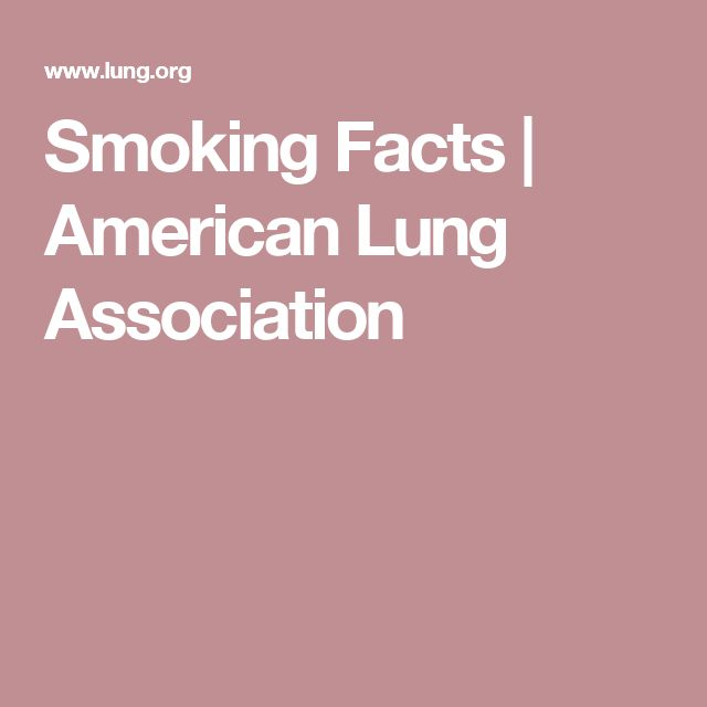 Smoking Facts | American Lung Association