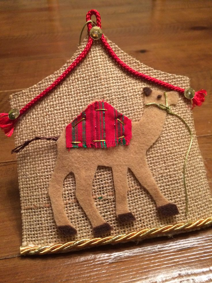 Jesse Tree Camel Ornament Abraham and Sarah