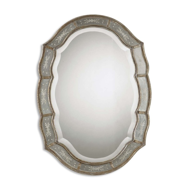 Uttermost 12530 B Fifi Etched Antique Gold Wall Mirror - Decor Universe