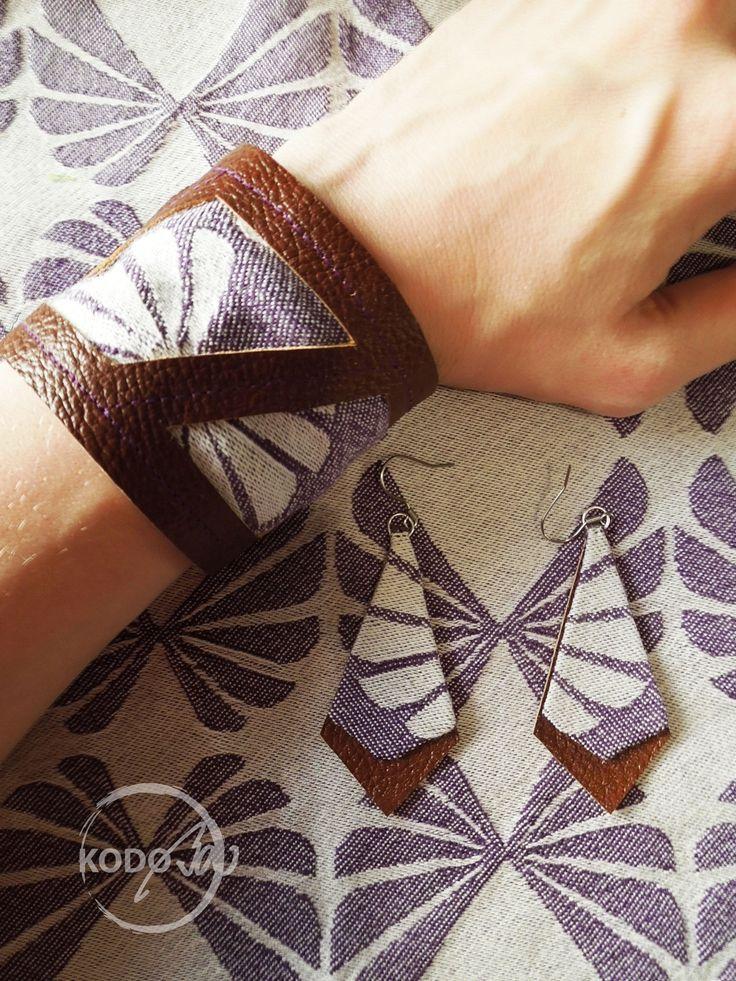 Wrap Scrap Bracelet and Earings from Omnifera Wings of Desire Zedekiel by KodoBa