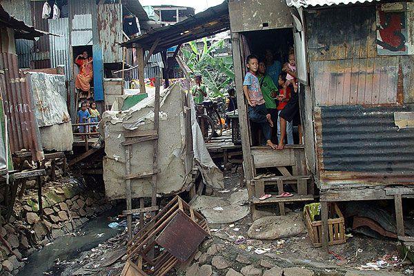 Jakarta slum housing, Java, Indonesia
