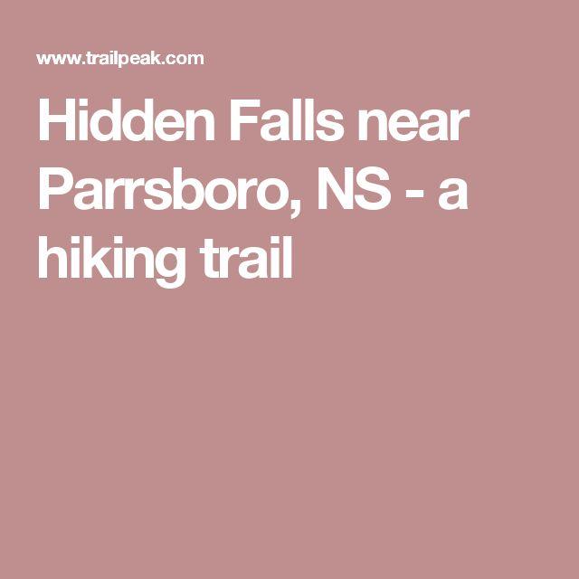 Hidden Falls near Parrsboro, NS - a hiking trail