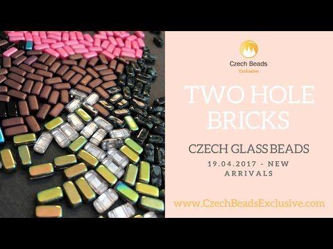 Czech Glass 2 Two Hole Brick Beads – New Arrivals 19.04.2017   CzechBeadsExclusive