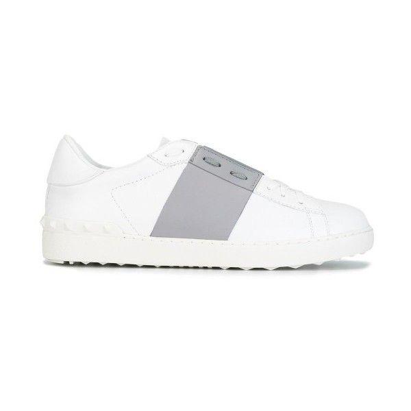 Valentino Garavani Band Sneakers ($645) ❤ liked on Polyvore featuring shoes, sneakers, valentino shoes, valentino sneakers and valentino trainers