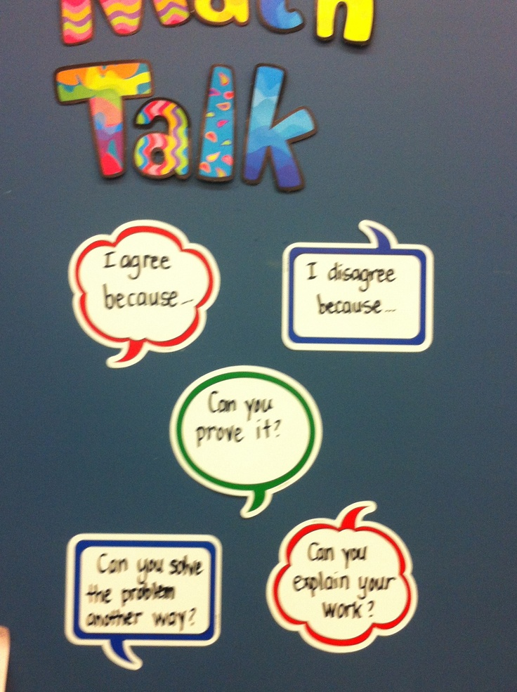 Accountable talk stems ...