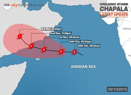 Very Severe Cyclonic Storm Chapala: Latest News And Updates - See more at: http://www.skymetweather.com/content/weather-news-and-analysis/cyclone-chapala-first-cyclonic-storm-of-the-season/#sthash.XxycbsBn.dpuf