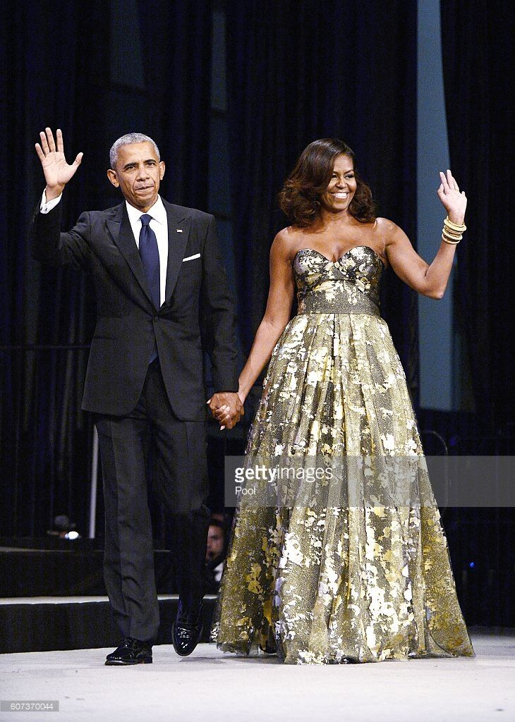 President Barack Obama and First Lady Michelle Obama arrive to address the Congressional Black Caucus Foundation's 46th Annual Legislative Conference Phoenix Awards Dinner, September 17 2016, in Washington, DC.