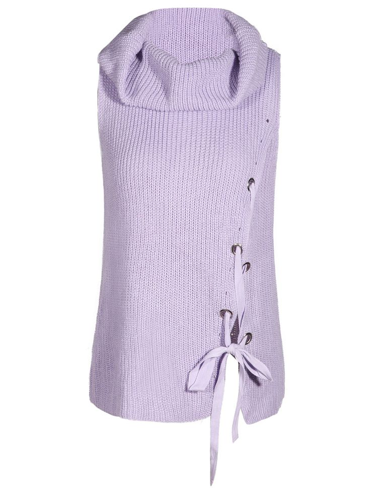 Cowl Neck Sleeveless Sweater #CLICK! #clothing, #shoes, #jewelry, #women, #men, #hats, #watches