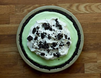 Mint chocolate icebox pie - An old-timey dessert that still captures our hearts