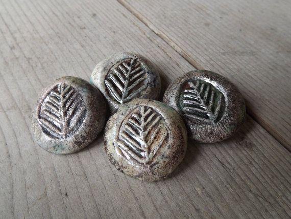 4  Ceramic Buttons round button tree branch by BlueBirdyDesign, €10.00