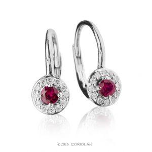 Cercei cu rubine si diamante - C647 - disponibil pe magazinul online de bijuterii de la Coriolan.