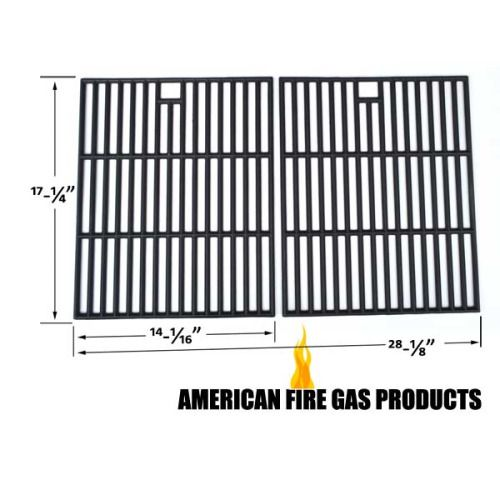 CAST-IRON COOKING GRIDS FOR BRINKMANN 810-8425-S, MEMBERS MARK 720-0582B, 720-0691A GAS MODELS Fits Compatible Better Homes and Gardens Models : BG1755B , BH12-101-001-02 , BH13-101-099-02 , GBC1273W