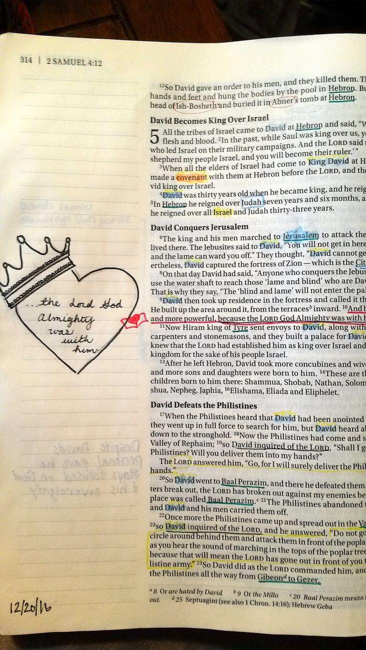 Bible Journaling 2 Samuel 5:10