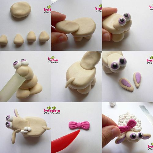 Cute fimo sheep tutorial but you can make it from sugar paste