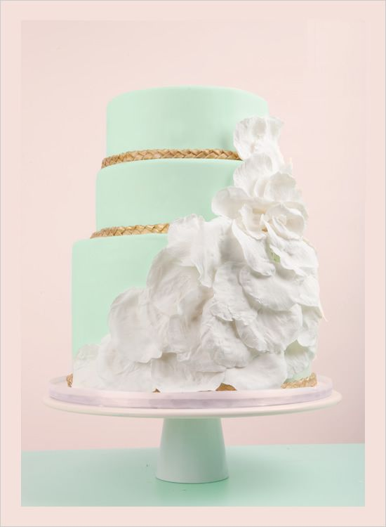 Mint and gold wedding cake   # Mint green Wedding