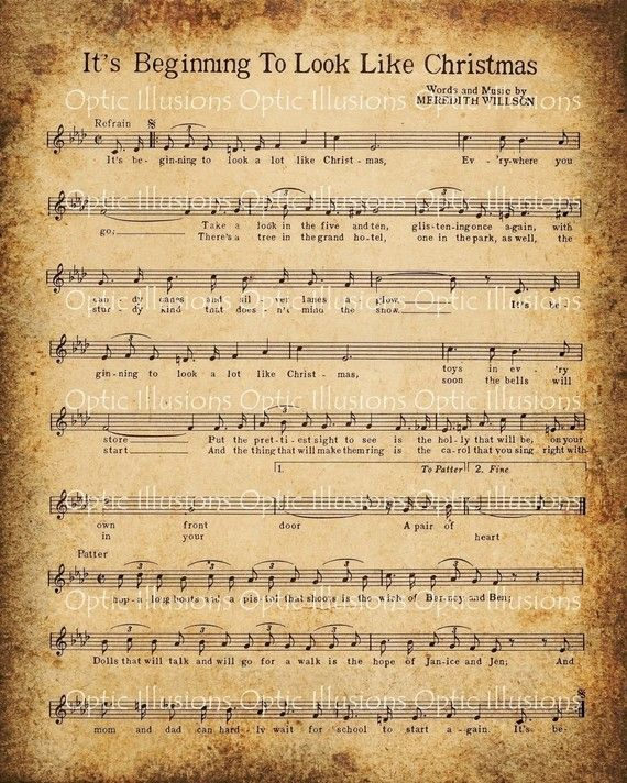 Free Printable Vintage Paper | ... altered vintage sheets of Christmas music, both popular and religious