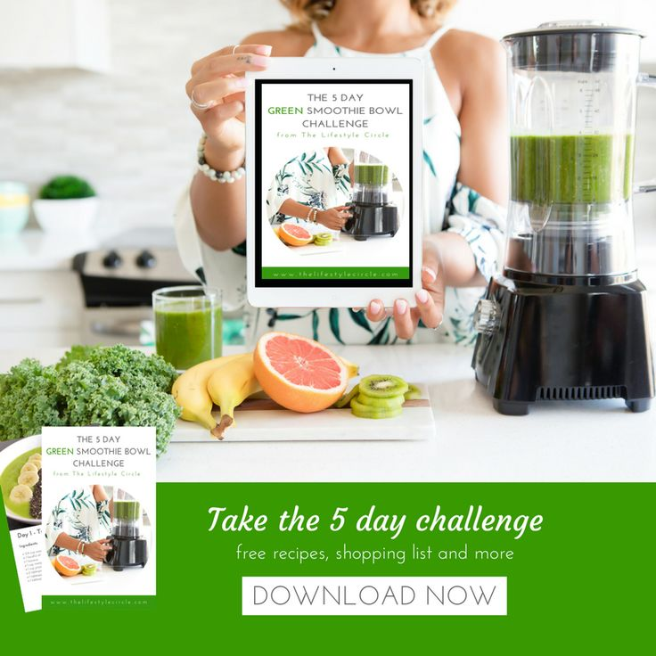 Take the 5 day Green Smoothie Bowl Challenge and watch your energy soar and see the positive impact it has on your choices for the rest of your day.