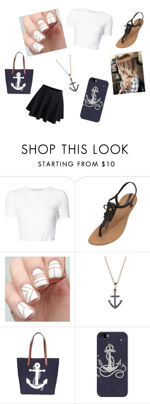 """Cute anchor outfit"" by oliviaivory ❤ liked on Polyvore featuring Rosetta Getty, IPANEMA, Crown & Ivy, Casetify and WithChic"