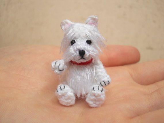 Hey, I found this really awesome Etsy listing at https://www.etsy.com/listing/167844261/white-westie-crochet-miniature-dog