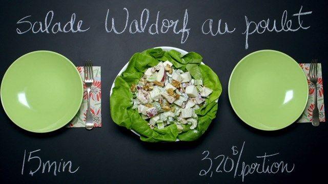 Salade Waldorf au poulet | Cuisine futée, parents pressés