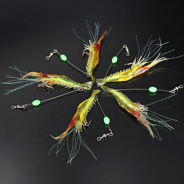 Specifications: Item: shrimp noctilucent fishing lure Size: 70mm(body,not include the beard) Color:shown as the picture Weight: 7g Features: 100% brand NEW Easy to use. It is also easy to the freshman