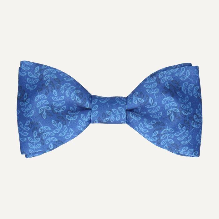 Aberdeen in Blue Bow Tie -Standard-Pre-Tie- - bowties by Mrs Bow Tie