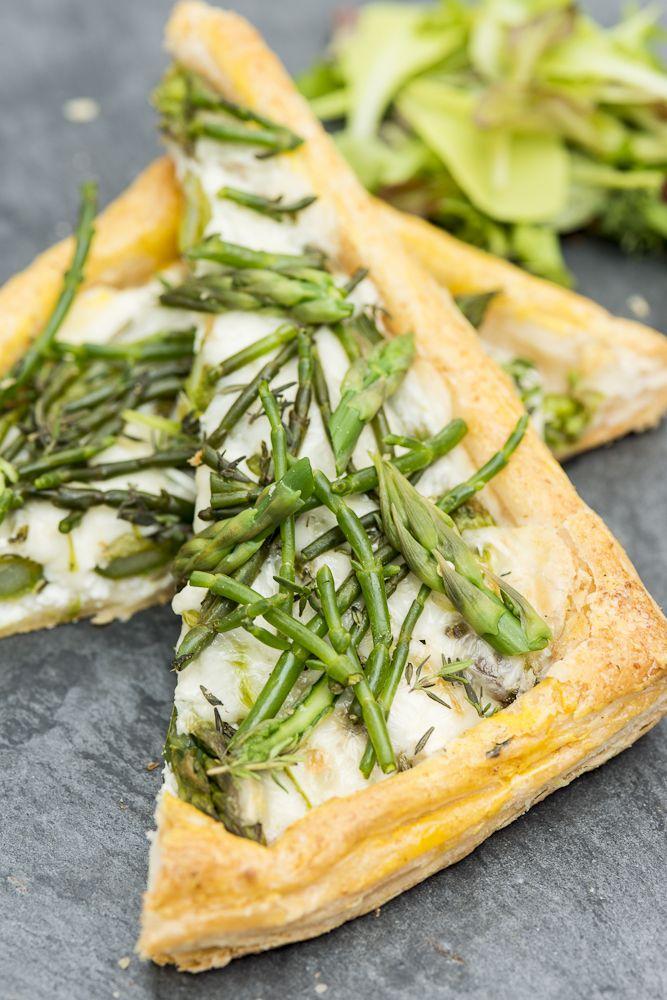 Asparagus and samphire tart | The Natural Pantry