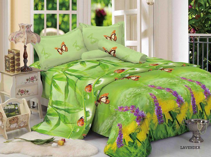 """LAVENDER - """"Motif Lavender memiliki background warna hijau segar dengan nuansa motif kupu dan kumbang dengan paduan warna lavender pada motif utama nya"""""""