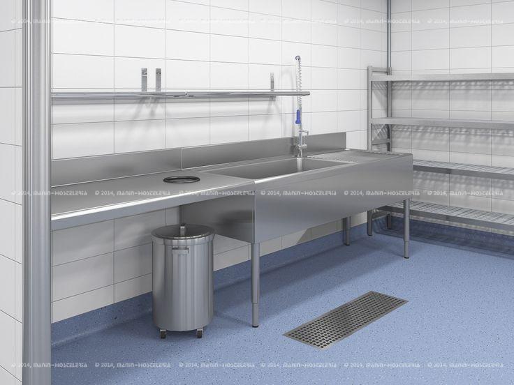 Dise o de cocina industrial en 3d y cad con rea - Diseno cocina industrial ...
