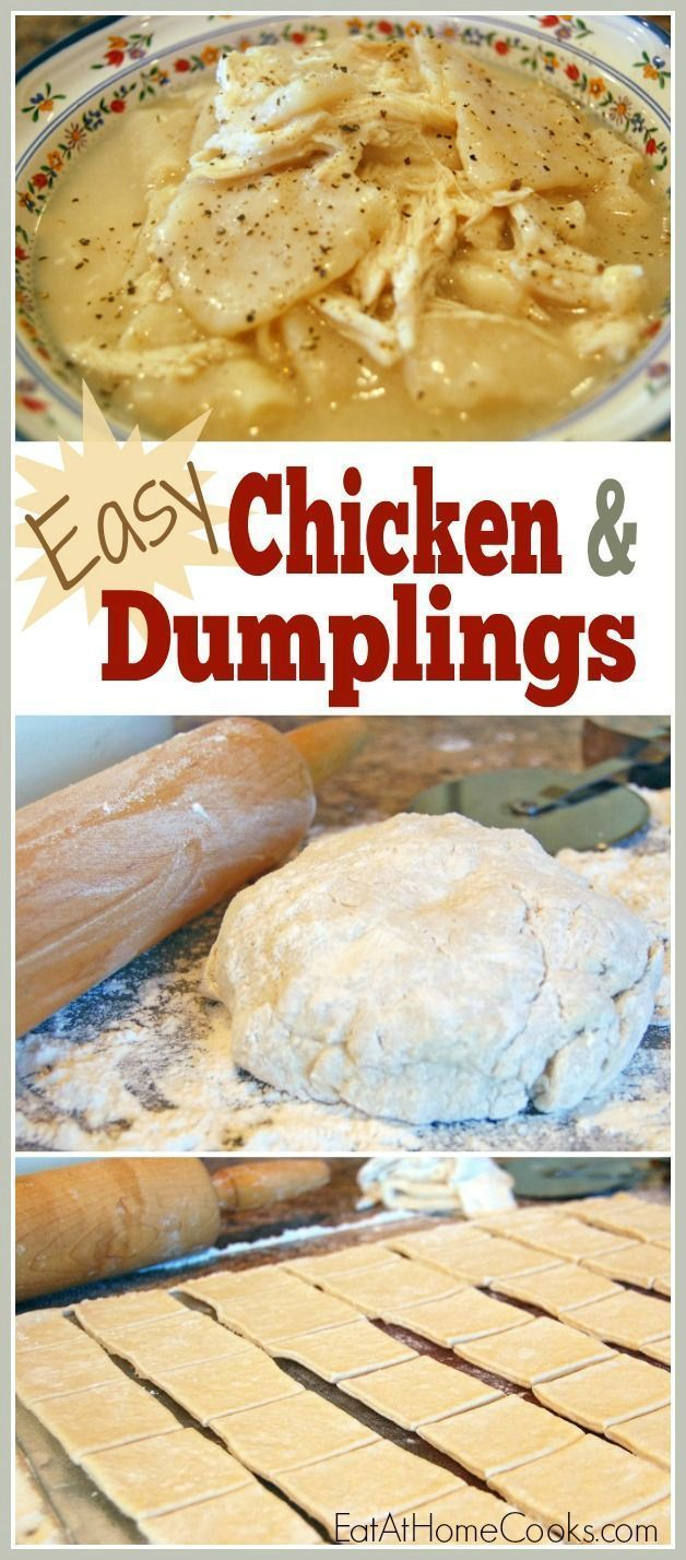 Easy Chicken Dumplings recipe. Delicious homemade weeknight dinner.