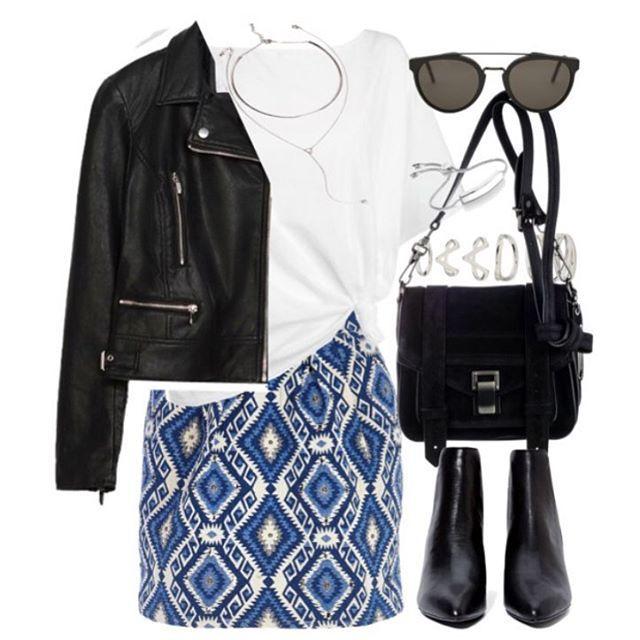 Jacket: @zara Top: @debenhams Skirt: @riverisland Boots: @nastygal Bag: @proenzaschouler Sunglasses: @retrosuperfutureph Rings and necklace: @forever21 Bracelet: @monicavinader