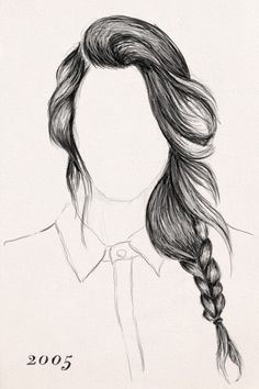 easy drawing girls with braids - Google Search
