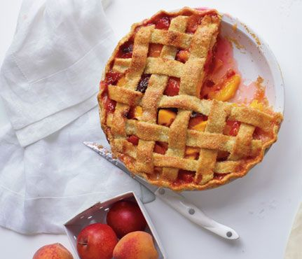 #GuiltFree Pie. Peaches are amazing for your skin. They provide vitamin A, which helps prevent clogged pores, so your complexion stays clear and healthy.