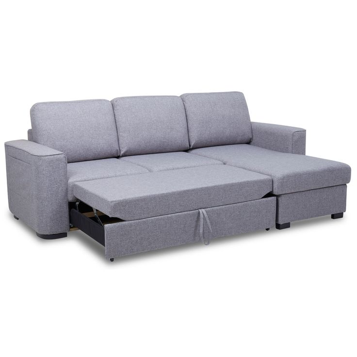 Ronny Fabric Corner Sofa Bed with Storage – Next Day Delivery Ronny Fabric Corner Sofa Bed with Storage