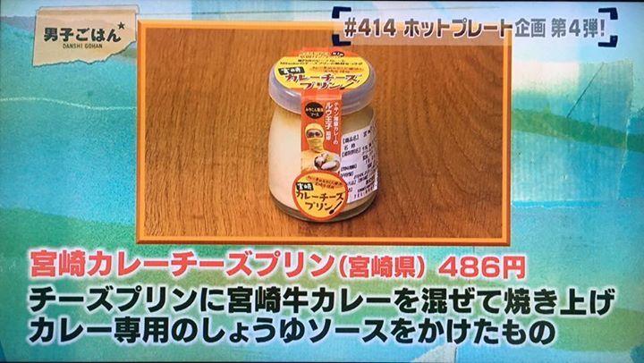TV東京男子ごはんにて宮崎カレーチーズプリンが紹介されたでござルウ!