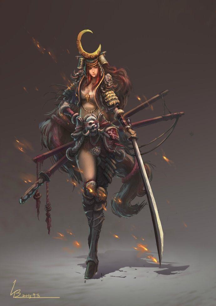 Female Samurai - 近期的 作品 和一些没画完的坑 希望多给点见解 - 2D原创区 - CG部落 中国CG、插画、原画交流平台 - Powered by Discuz!