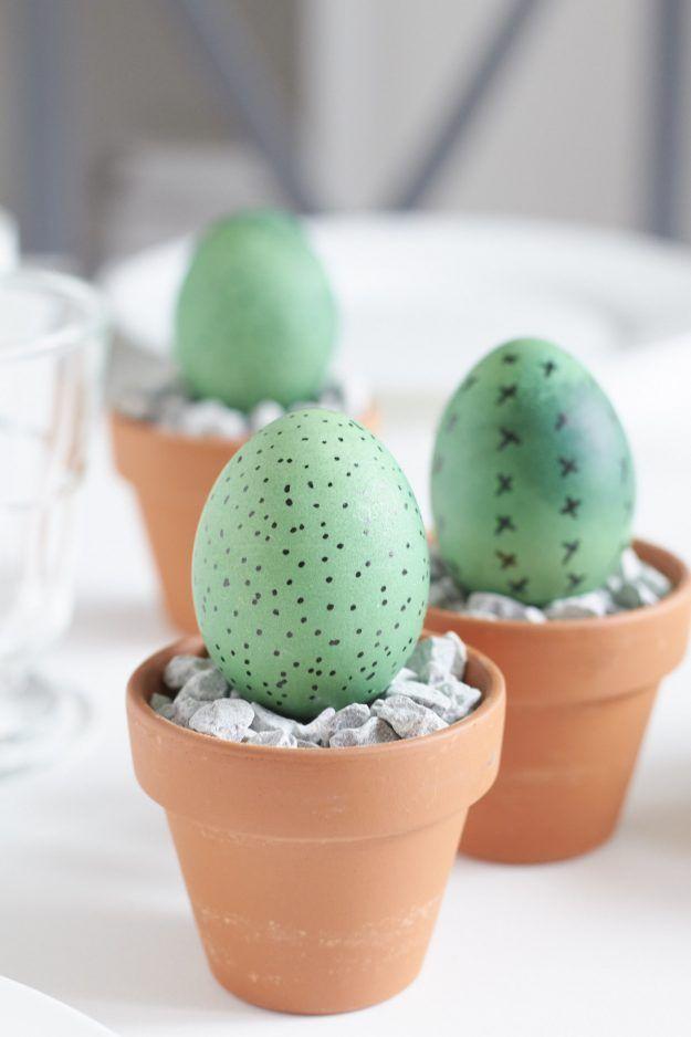 schnelle hübsche Deko für die Ostertafel – mein kleiner grüner Kaktus