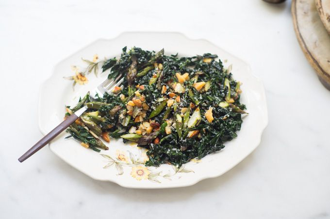 Genius Kale Salad - There is a special kale salad recipe in the Food52 Genius Recipes cookbook. A single kale salad that ran the gauntlet, beating out all others, for a slice of limelight. - from 101Cookbooks.com