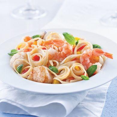 Linguines aux fruits de mer, sauce safranée - Recettes - Cuisine et nutrition - Pratico Pratique