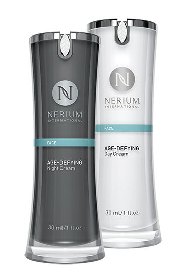 Discover the science behind great skin! Experience Nerium's night and day difference with the ultimate skincare system: Age-Defying Night and Day Creams, NeriumAD® Formula. Get all the benefits of both products in one purchase! Both feature the powerful, proprietary NAE-8® extract.