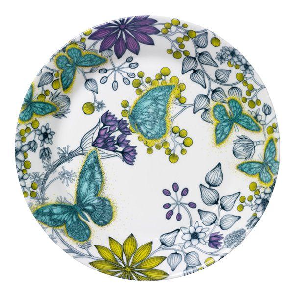 Runo Butterfly plate by Arabia