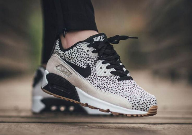 Nike Wmns Air Max 90 PRM White/Black-Gum Light Brown - 443817-102