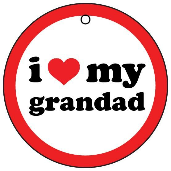 I love my #grandad car air #freshener (christmas stocking #filler),  View more on the LINK: http://www.zeppy.io/product/gb/2/111490622727/