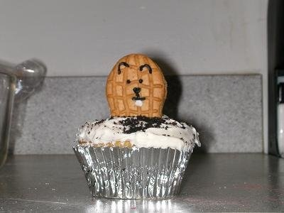 Made these once for a Groundhog Day party - they were a hit!: Diy Groundhog, Party Cupcakes, Director Ideas, Adrianne Covino, School Ideas, Activity Director, Awesome Party, Fun Times