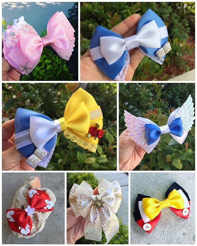 Wonderful Disney bows from @dreamloveandbows
