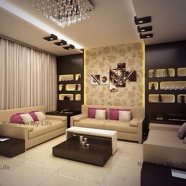 Modern Interior Decoration Living Rooms Ceiling Designs: A Unique Combination Of Contemporary Decor With