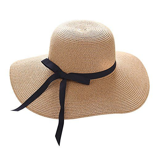 dcef6d15 The perfect Lvaiz Women's Big Brim Sun Hat Floppy Foldable Bowknot Straw Hat  Summer Beach Hat. [$5.41 - 16.99] offerdressforyou from top store