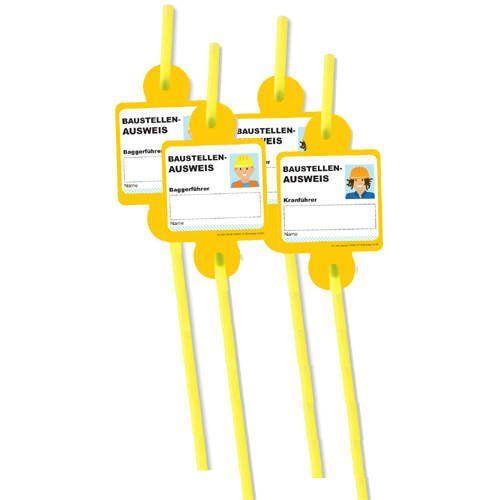 """Strohhalme """"Baustelle"""" 8er Pack DH-Konzept http://www.amazon.de/dp/B006X1CDG4/ref=cm_sw_r_pi_dp_hxdVtb0FWQE3EG69"""