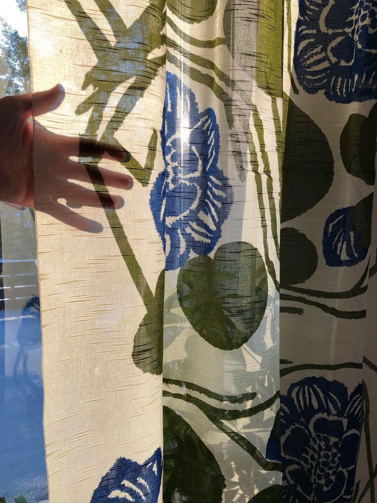 Excited to share the latest addition to my #etsy shop: Scandinavian retro curtains fabric probably design Saini Salonen Boras Sweden 70s